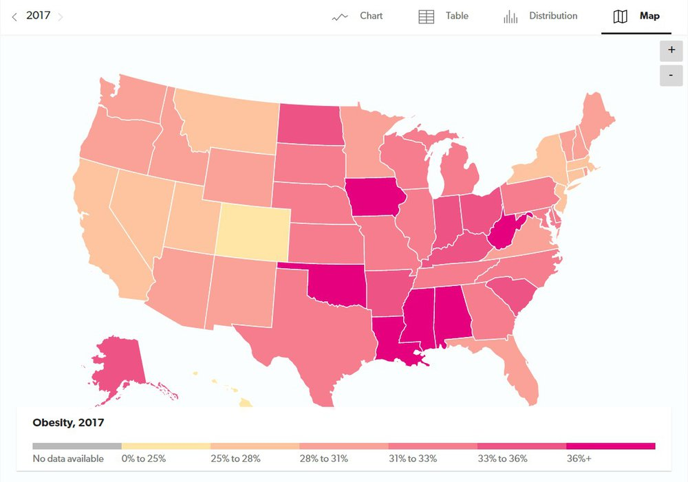 Obesity Rate Nearly Triples In The United States Over The Last 50 Years Usafacts
